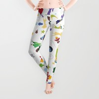 character pattern inside out Leggings by Studiomarshallarts