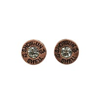 Western Cowgirl Shotgun Shell bullet earrings studs