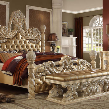 Homey Design HD-7266 Victorian Classic King Bedroom Set