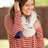 Luxe Knit Infinity Scarf-Ivory
