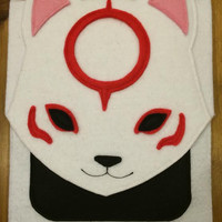 Okami Video Game Amaterasu Cotton-Lined Felt iPad Case with Button Magnet Closure