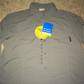 Sale!! COLUMBIA Insect blocker button down long sleeve shirt