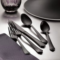 Signature Palace 20-Piece Gunmetal Black Flatware Set