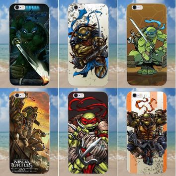 Kmuysl Ninja Turtles For iPhone 4 4S 5 5C SE 6 6S 7 8 Plus X Galaxy S5 S6 S7 S8 Grand Core II Prime Alpha TPU Fashion Case