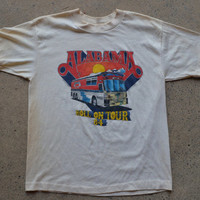 Vintage 1984 Alabama Country Western Roll On Tour Band T shirt