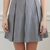 Elegant Plaid Print Pleated Skirt - OASAP.com