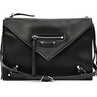 Wiberlux Balenciaga Women's Real Leather Divided Compartment Crossbody Bag