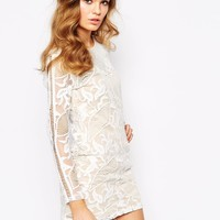 Goldie Masquarade All Over Embroidered Bodycon Dress