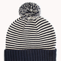 Striped Bobble Beanie
