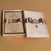 Couture Dangling Crystal Invitation Box