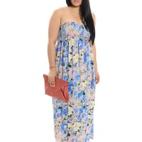 Pink/Blue Patterns & Prints Maxi Dress | $10 | Cheap Trendy Casual Dresses Chic Discount Fashion for
