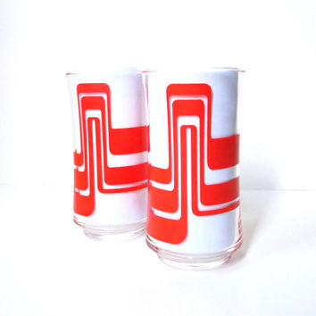 Vintage Drinking Glasses, Retro Water Glasses