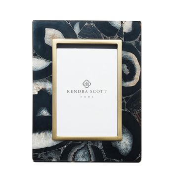 Picture Frame in Black Banded Agate 4x6 | Kendra Scott