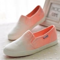 lovely Gradient low canvas shoes