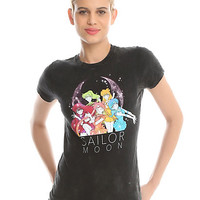Sailor Moon Sailor Scouts Acid Wash Girls T-Shirt