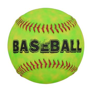 Yellow Green Patterned Customizable Baseball