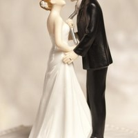 Tie(ing) the Knot Wedding Cake Topper - Wedding Collectibles