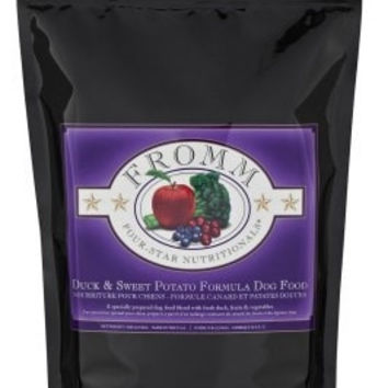 FROMM DOG DRY - 4STAR DUCK/SWEET POTATO 5LB -  - FROMM PET FOODS - UPC: 72705116249 - DEPT: FROMM PET FOOD
