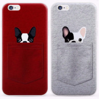 Puppy Dog in My Pocket Soft iPhone Case 5  5s, 6 6s, 6s Plus