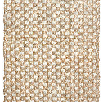 Mixed Jute Weaves Area Rug in Bleach and Natural design by Classic Home