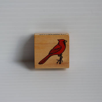 CARDINAL Rubber Stamp, Commotion rubber stamp, arts and crafts supply, arts supplies, gift for scrapbooker, gift for mom,Virginia State Bird