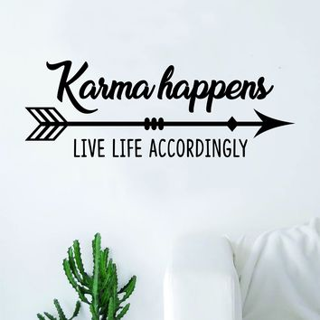 Karma Happens Quote Wall Decal Sticker Room Art Vinyl Home Decor Living Room Bedroom Inspirational Motivational