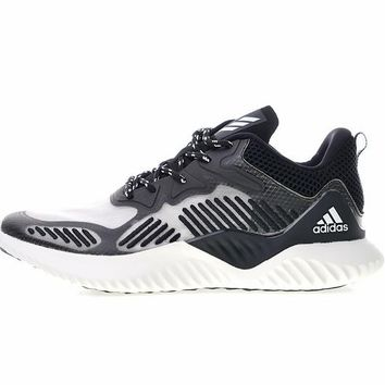 "adidas Alpha BOUNCE M ""Black&Grey"" Running Shoes B42383"