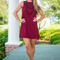 Cheer We Go Dress, Maroon