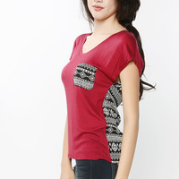 Front Back Color Block Top