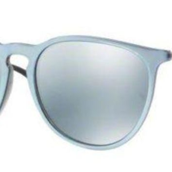 Kalete Ray Ban RB4171F 631930 Grey Silver Frame Silver Mirror 57mm Lens Sunglasses