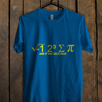 I hate Some Pi And It Was Delicious Blue Mens T Shirt **