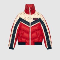 Gucci - Nylon jacket with Gucci patch