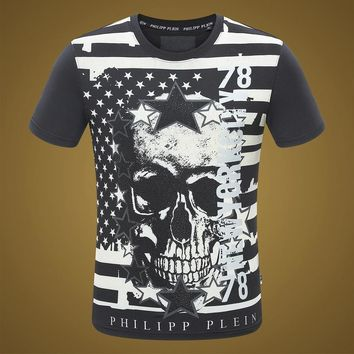 2018 Men  Cheap  Philipp Plein  T Shirt hot sale ♂024
