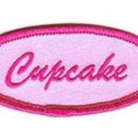 Fuzzy Dude Cupcake Name Tag Patch Accessories Patches at Broken Cherry