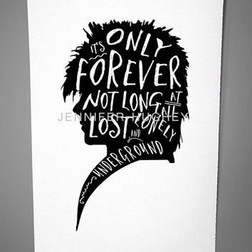 Labyrinth Print | labyrinth poster | Jareth quote poster print | Silhouette Jareth Goblin King