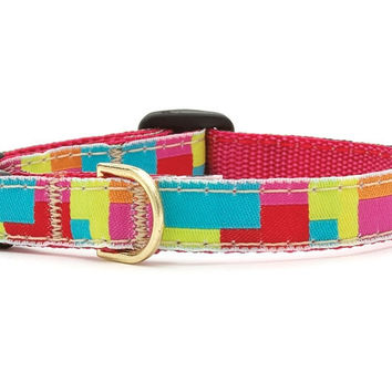 Up Country Color Block Cat Collar