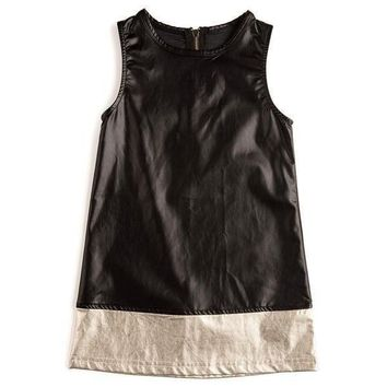 Outlet Appaman Gemma Black Gold Metallic Dress