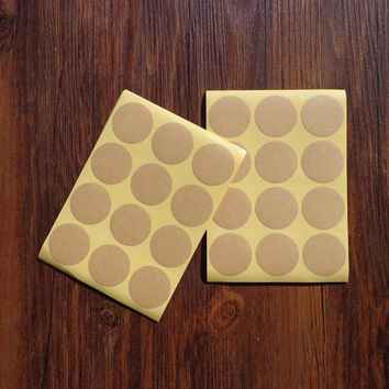 600pcs Blank Round Kraft Sticker for Handmade Product Gift Seal Label Sticker For Party Favor Gift Bag Candy Box Decor