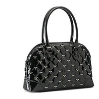 Rock Rebel Lucy Quilted blackHand Bag Purse Spiders Accent