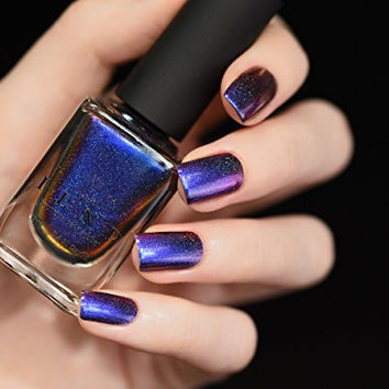 ILNP Cygnus Loop (H) - Blue, Purple, Orange, Yellow, Red, Green Ultra Chrome Color Shifting Nail Polish