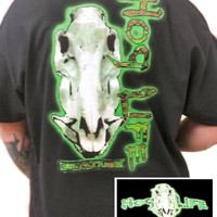 Country Life Outfitters Hog Life Neon Green Vintage Unisex Bright T Shirt