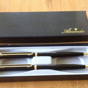 Vintage Alexander Desk Set Pen & Pencil