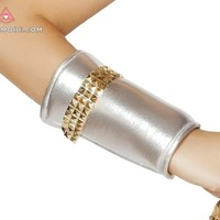 Wrist Cuffs with Gold Trim Detail-As Shown