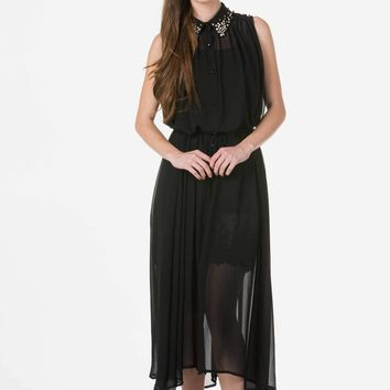 Button Downed Maxi Dress