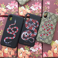 GUCCI Fashion Print iPhone Phone Cover Case For iPhone X