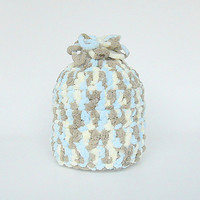 Pastel Blue Brown Cream 3 To 6 Month Boy Winter  Hat  With Soft  Fleece Like Yarn Infant Girl  Cap Baby Fall Beanie