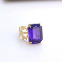 Blue Ring, Stone Ring, stone Ring, Crystal Ring, Band Ring,Cocktail ring, Gold stone ring,