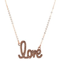 Aeropostale Womens Endless Love Short-Strand Necklace - Rose Gold, One