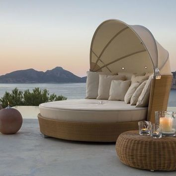 2015 Romantic Outdoor Furniture sun loungers Wicker Daybed