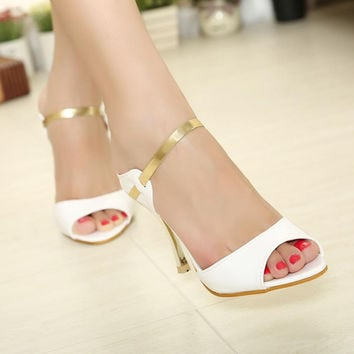 High Quality Buckle Strap Heels